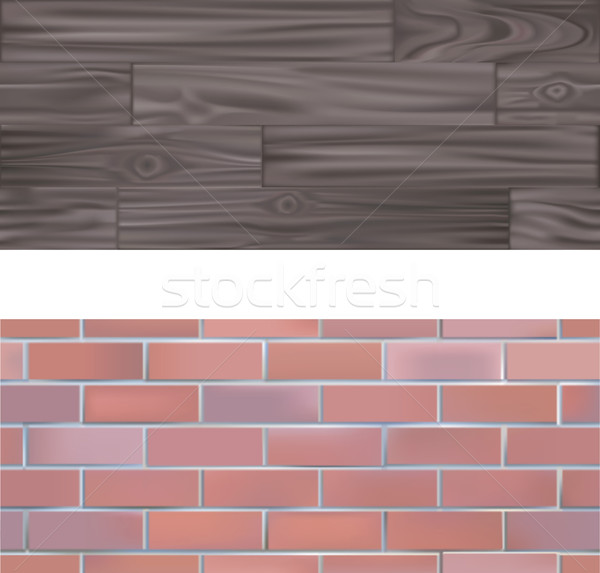 Brick and wood  seamlessly tileable Textures Stock photo © Krisdog