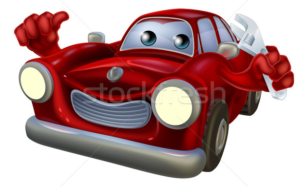 Cartoon character car mechanic Stock photo © Krisdog
