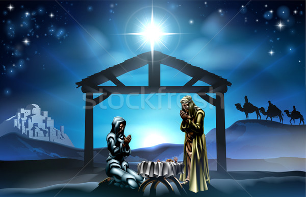 Christmas Nativity Scene Stock photo © Krisdog