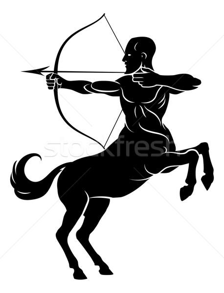 лук стрелка мифический лучник лошади человека Сток-фото © Krisdog