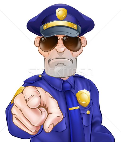 Cartoon Policeman Stock photo © Krisdog