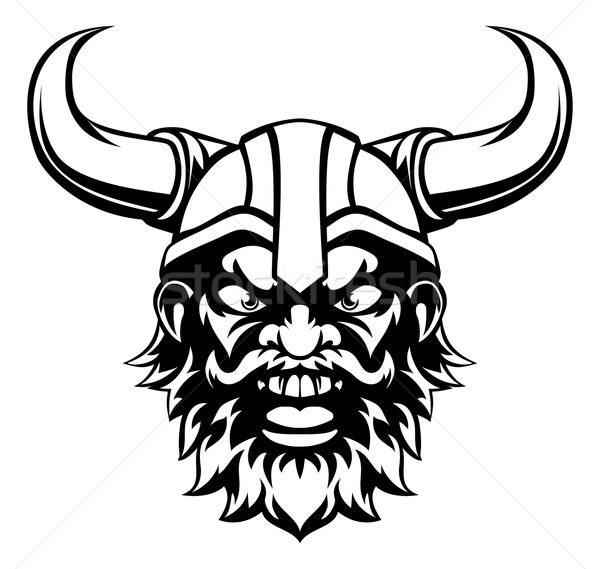 Cartoon viking mascot vector illustration christos - Dessin de viking ...
