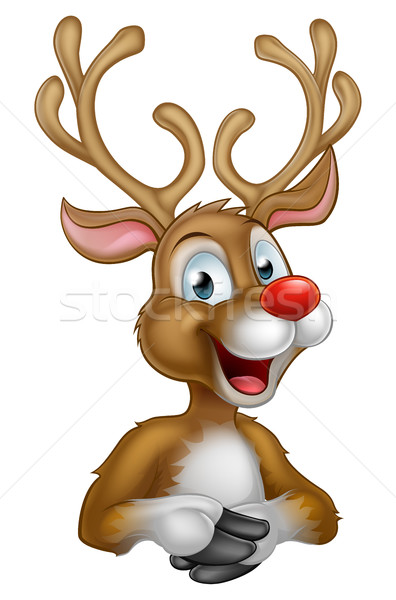 Cartoon Christmas Reindeer  Stock photo © Krisdog