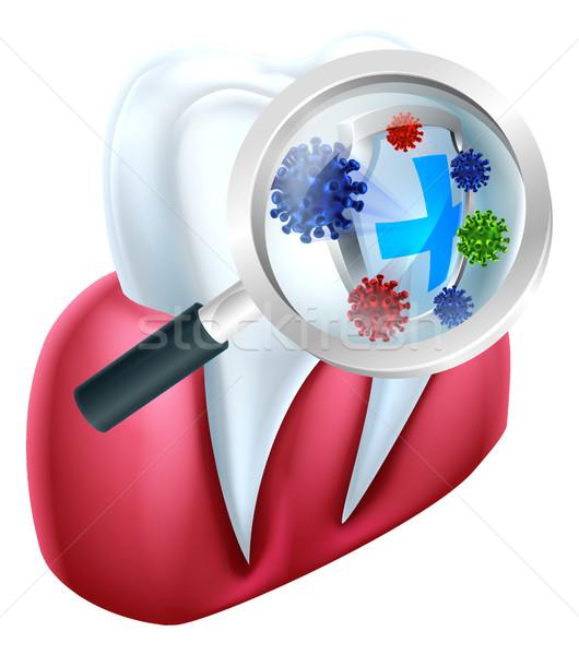 Tooth Protection Shield Stock photo © Krisdog