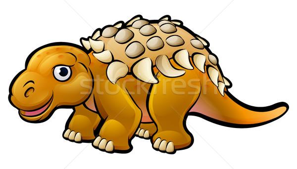Ankylosaurus Dinosaur Cartoon Character Stock photo © Krisdog