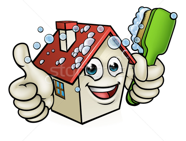 House Cleaning Cartoon Character Stock photo © Krisdog