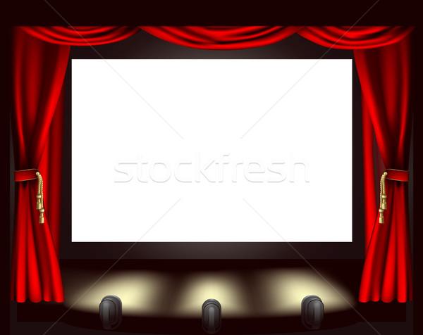 Cinema screen Stock photo © Krisdog