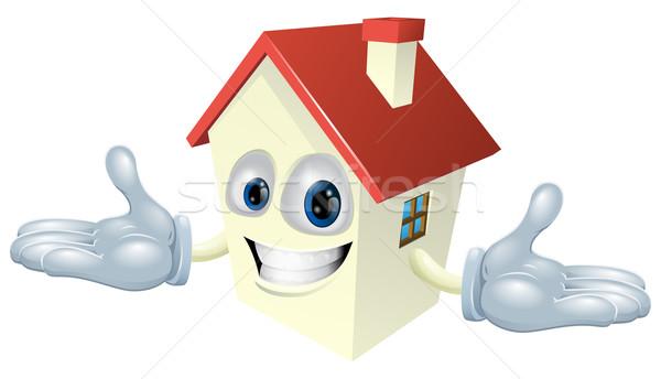 Domu charakter ilustracja cute szczęśliwy uśmiechnięty Zdjęcia stock © Krisdog