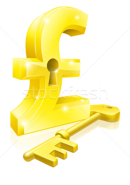 Pound key lock concept Stock photo © Krisdog