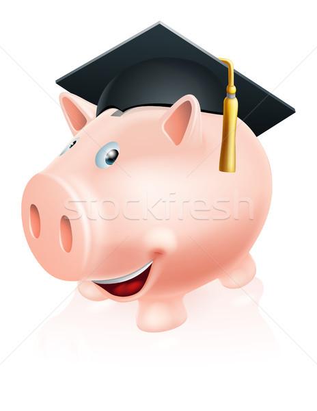 Education savings piggy bank Stock photo © Krisdog