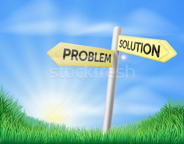 Problem solution sign concept Stock photo © Krisdog