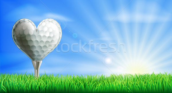 Heart shaped golf ball Stock photo © Krisdog