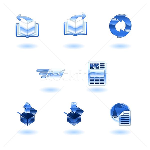 Brilhante internet navegador conjunto ícones Foto stock © Krisdog
