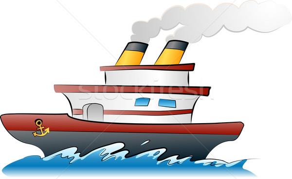 судно иллюстрация парусного лодка тропические белый Сток-фото © Krisdog