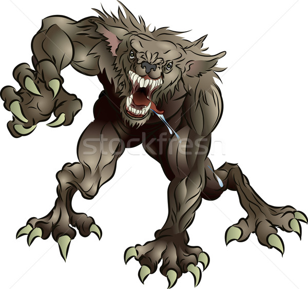 Snarling Scary Werewolf Stock photo © Krisdog