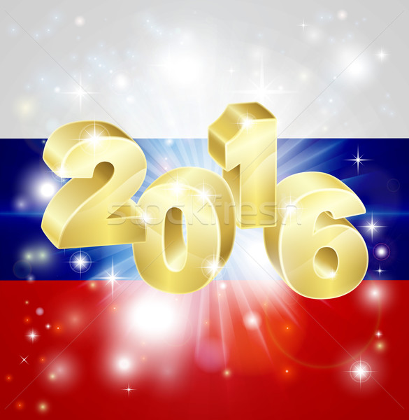Russian Flag 2016 Concept Stock photo © Krisdog