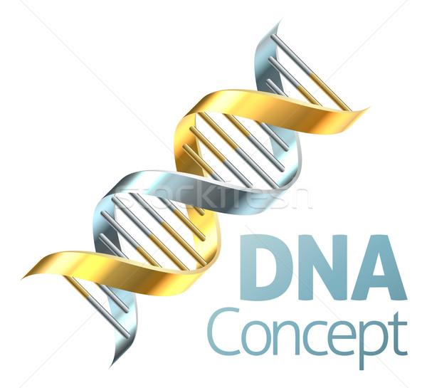 Dobrar dna genética cromossoma ouro Foto stock © Krisdog