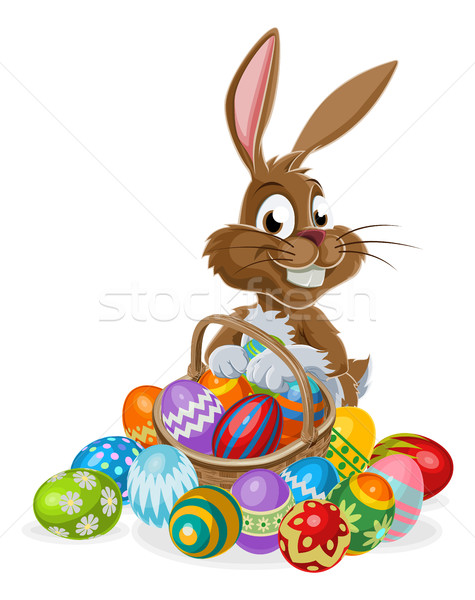 Easter Bunny with Eggs Stock photo © Krisdog