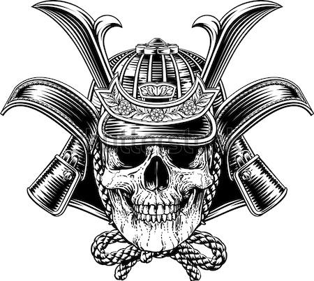 Cowboy Hat Skull and Pistols Stock photo © Krisdog