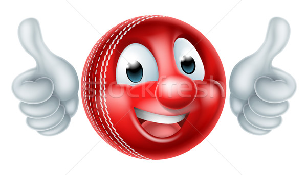 Cartoon Cricket Ball Mascot Stock photo © Krisdog