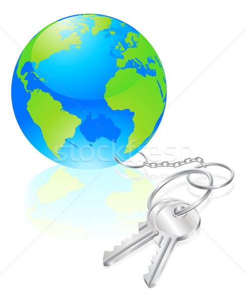 Keys to the world concept Stock photo © Krisdog