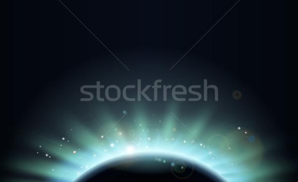 Eclipse sun planet background illustration Stock photo © Krisdog