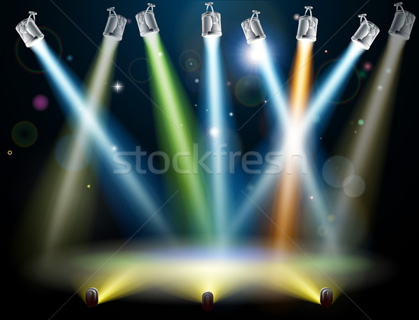Dance floor or stage lights Stock photo © Krisdog
