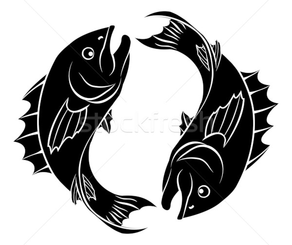 Stylised fish illustration Stock photo © Krisdog
