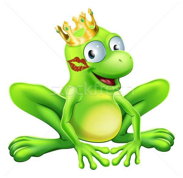 Frog Prince Cartoon Stock photo © Krisdog