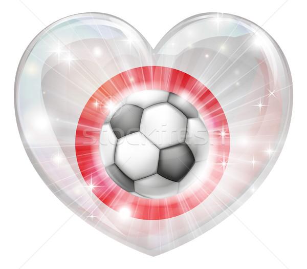 Japan soccer heart flag Stock photo © Krisdog