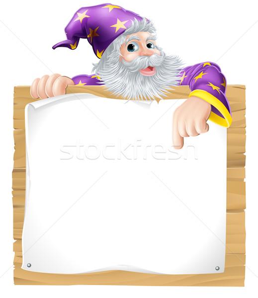 Wizard Character Sign Stock photo © Krisdog
