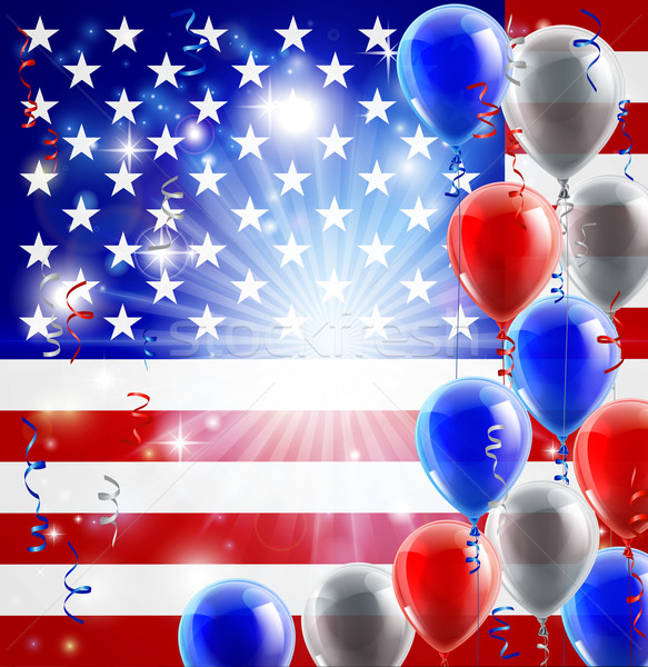 USA 4th july balloons background Stock photo © Krisdog
