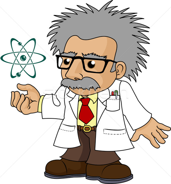 Illustration of nutty science professor Stock photo © Krisdog