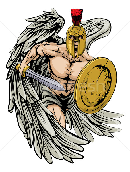 Stock photo: Strong angel