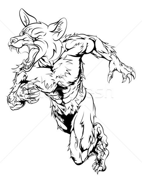 Fox sports mascot sprinting Stock photo © Krisdog