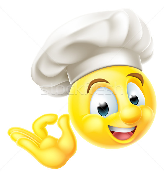 Chef Cook Emoji Emoticon Stock photo © Krisdog