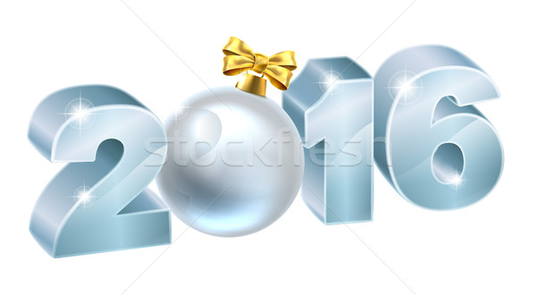 2016 Christmas or New Year Bauble Stock photo © Krisdog