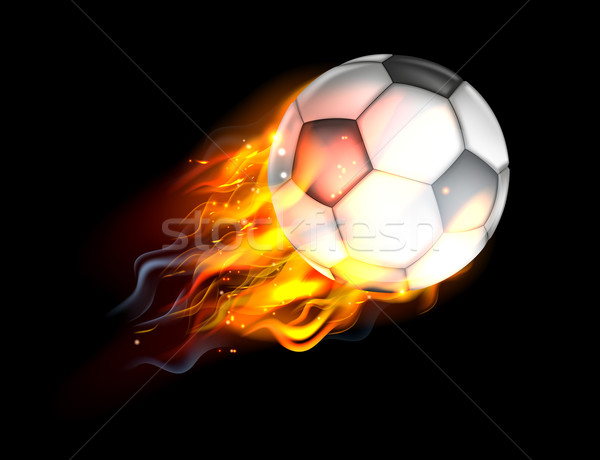Soccer Ball on Fire Stock photo © Krisdog