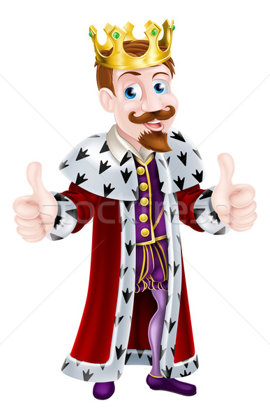 Cartoon King Giving Double Thumbs Up Stock photo © Krisdog