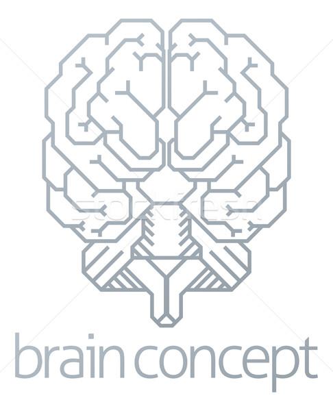 Brain Front Concept Stock photo © Krisdog