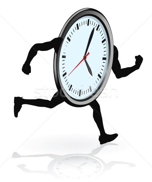 Clock character running Stock photo © Krisdog