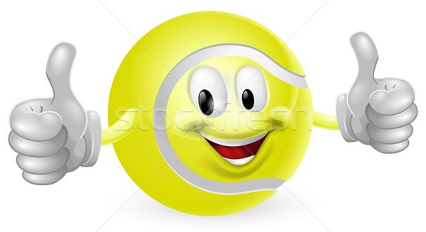 Tennis Ball Mascot Stock photo © Krisdog