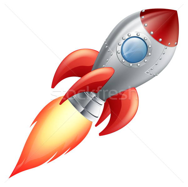 Cartoon rocket space ship Stock photo © Krisdog