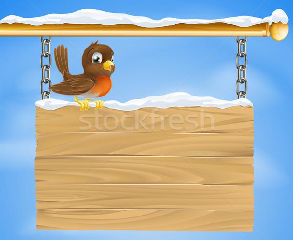 Stockfoto: Christmas · vogel · koud · december · winter