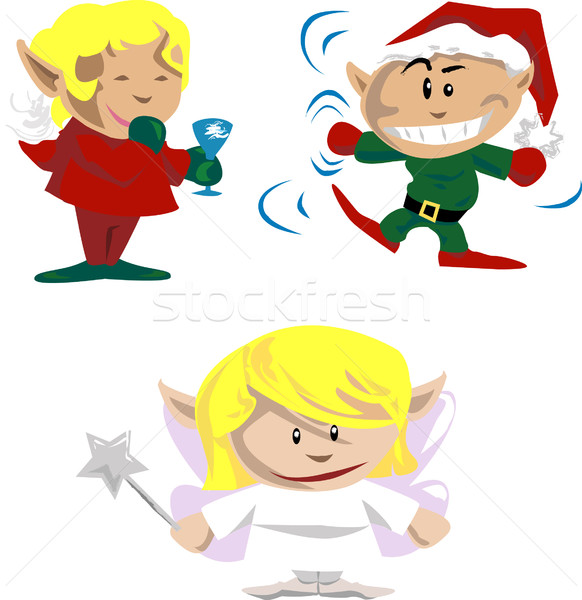 christmas elves and pixies Stock photo © Krisdog