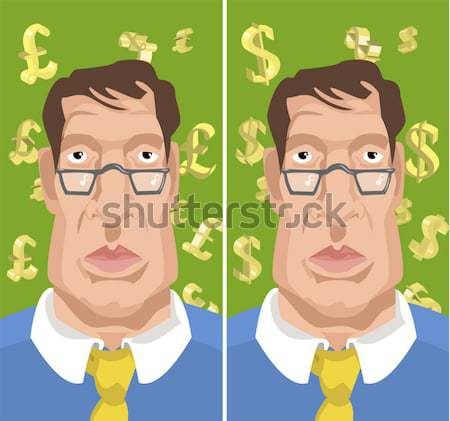 man with sterling money signs in background Stock photo © Krisdog