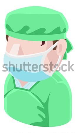 Chirurgien illustration masque chirurgical homme médicaux Photo stock © Krisdog