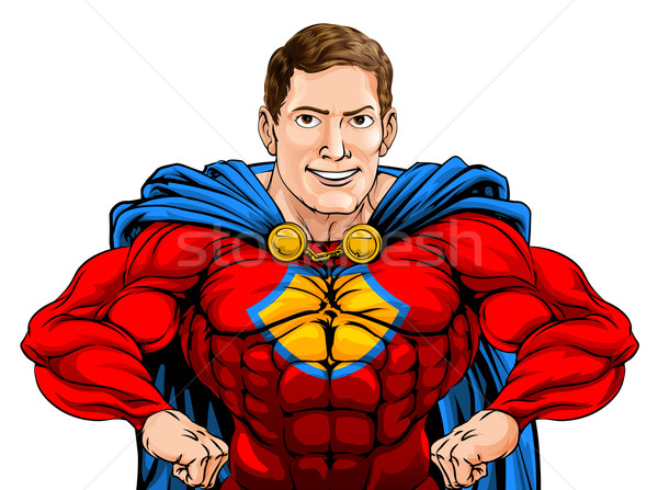 スーパーヒーロー 実例 厳しい 漫画 文字 手 ストックフォト © Krisdog