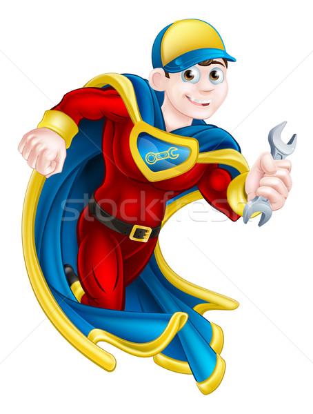 Mechanic Super Hero Stock photo © Krisdog