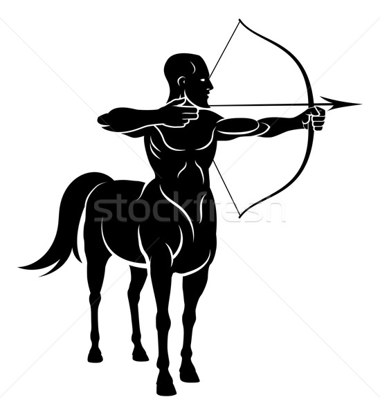 лошади человека мифический лучник характер Сток-фото © Krisdog